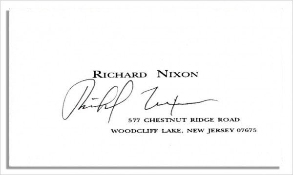 Richard-Nixon-Business-Card-with-autograph-600x359